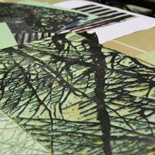 <p>Druckstöcke und Andrucke von Birgit Brandis ©griffelkunst</p>