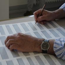 <p>Bogomir Ecker signiert in der Seilerstraße, Hamburg</p>
