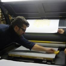 <p>In der Druckwerkstatt von Thomas Franke</p>