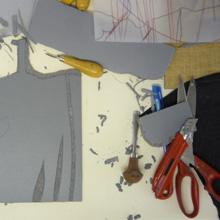 <p>Drucke von Anja Tchepets entstehen ©griffelkunst</p>