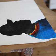 <p>Im Atelier von Anja Tchepets</p>